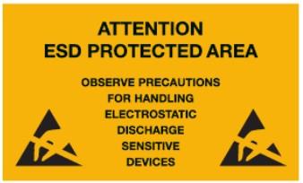 ESD-teipit, -merkinnät ja -etiketit